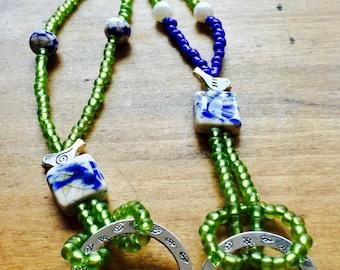 Beaded Eyeglass Necklace ~ Ceramic