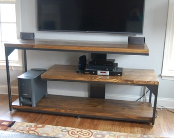 Cantilevered Industrial Console Table