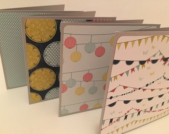 Pack of 4 Hand Made Cards