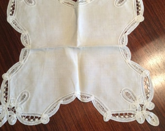 Vintage white work and lace doilies