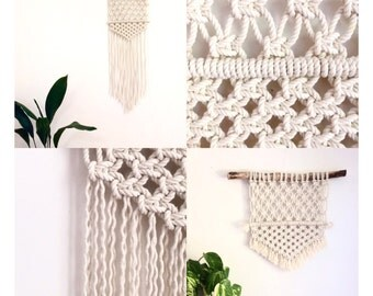 Driftwood Wall Hanging macrame kit wall hanging diy driftwood cotton rope