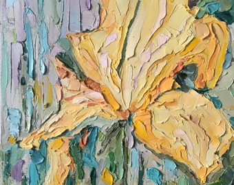 Irises, Abstract Texture Painting
