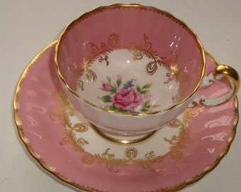 Aynsley England Rose Pink Cup and Saucer ~ Pattern #1515