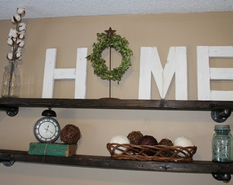 wood letters H, M and E  WREATH/STAND NOT iNCLUDED