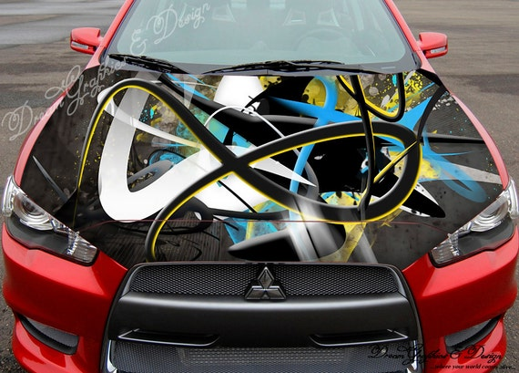 Abstract D Full Color Graphics Adhesive Vinyl Sticker Fit Any - Vinyl stickers designabstract full color graphics adhesive vinyl sticker fit any car