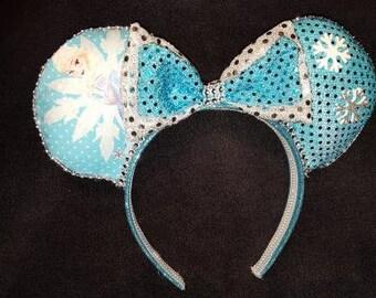 Queen Elsa Disney Inspired Ears