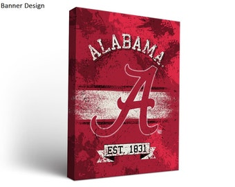 Alabama Crimson Tide Canvas Wall Art