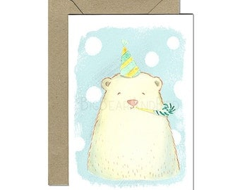 Celebration Bear – Friendly Creatures Birthday Greeting Cards