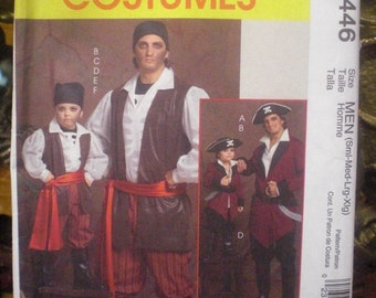 Men's Pirate / Captain Costume Pattern - S-XL