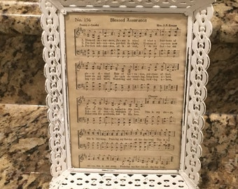 Shabby chic frame-hymnal frame