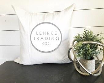 Custom Last Name Pillow - 18 x 18, home decor, cushion, throw pillow, gift, present, custom home, custom house, home, trading deco, vintage