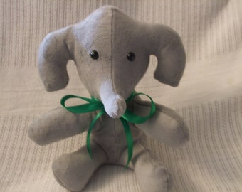 grey plush elephant, Stuffed Grey elephant, Suede like elephant, gray elephant,grey elephant , toy elephant, elephant plush, free shipping