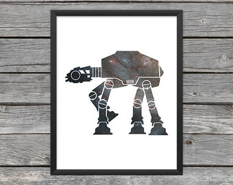 AT-AT Poster at-at Print Star Wars at-at Art at-at Outline Star Wars Art Star Wars Print  Outer Space Art Galaxy Art Nebula Art Download