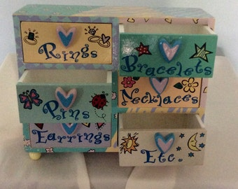 Jewelry box, artdeco, young girl