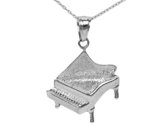 Sterling Silver Piano Necklace