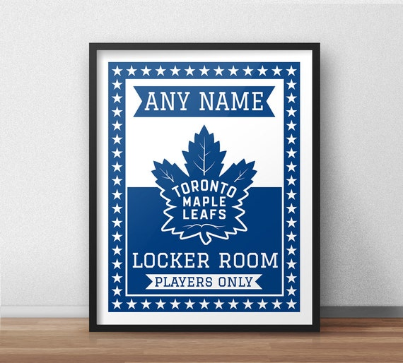 Toronto Maple Leafs Custom Locker Room Sign 11 X