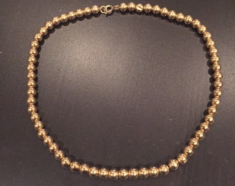 Gold Beaded Necklace (1/20 Gold)