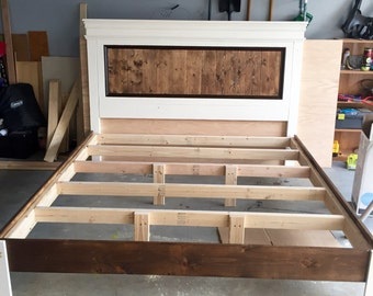 Custom headboard and bed frame