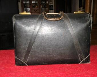 Vintage Black Leather Bag