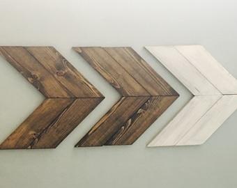 Set of 3 Wall Arrows/ Wooden Arrows/ Decorative Arrows/ Chevron Arrows/ Rustic Wooden Arrow/ Wall Art/ Arrow Decor/ Wood Arrow/ Rustic Arrow