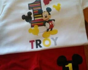 1st birthday mickey outfit