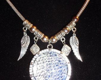 Night Flight Moon Snake skin necklace