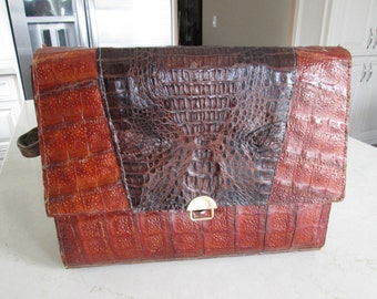 Vintage Reptile Purse with Ajustable Handle