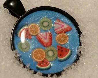 Fruit Water Pendant Necklace