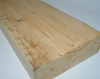 """Chunky Rustic Floating Shelf Reclaimed Solid Wood 2"""" x 6"""" FREE SHIPPING!"""