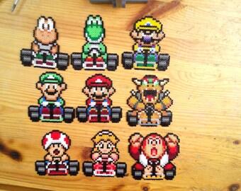 Super Mario Kart Pixel Art beads mini Hama