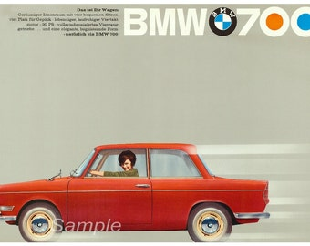 Vintage BMW 700 Advertising Poster Print