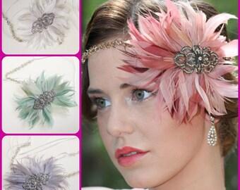 Great Gatsby Headband,Downton Abbey,Art Deco Flapper Headband, 1920s Headpiece,Daisy Buchanan,1920s Flapper,Wedding headpiece,roaring 20s
