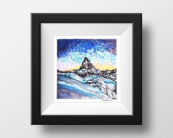 Matterhorn - illustration - giclee print