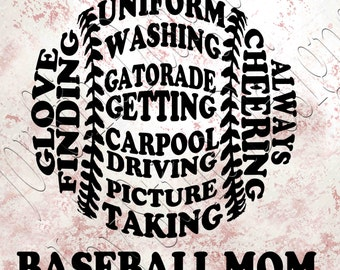 Baseball Mom   SVG, PNG, JPEG