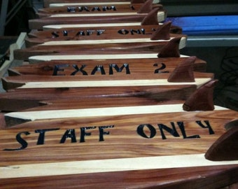 Custom Carved Wood Signs