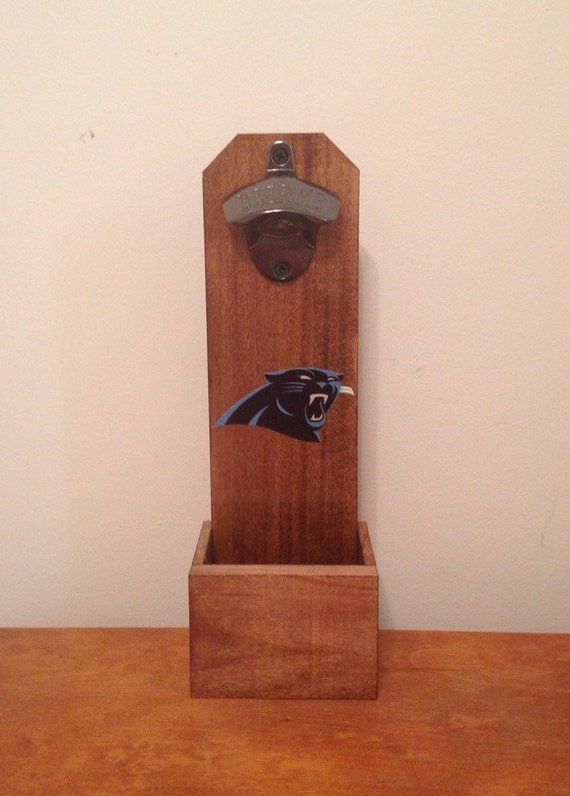 Wall Mounted Bottle Opener Carolina Panthers By Mancavesports