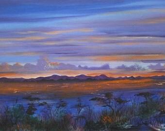 OriginalAcrylic by Johnathan Ray. Title: Sunset