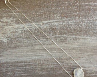 Necklace silver Moonstone