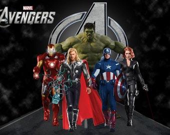 Avengers Character Print
