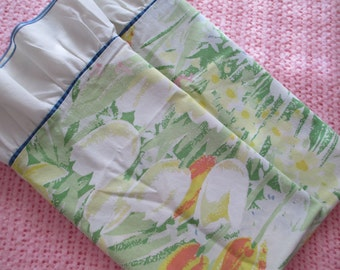 Ruffled Floral Pillowcase Set