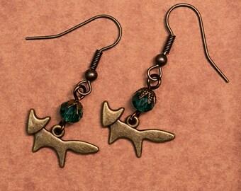 Bronze Fox Earrings