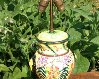 Antique Italian Lamp Has a great Look of Antiquity