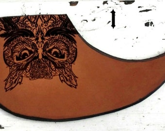 Handmade, Leather, Engraved Pickguard for Acoustic Guitar
