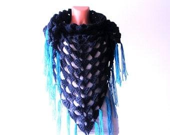 Triangle Crochet Scarf; Handmade; Crocheted Scarf