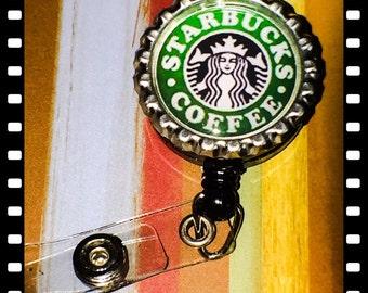 Retractable Starbucks Name Reel Badge Holder