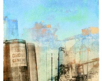 Ash Grove Cement for Maxfield Parrish, transfer print