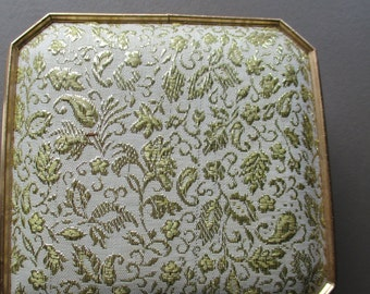 Vintage Gold Brocade Jewelry Box
