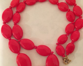 Vintage, Bohemian glass bead necklace