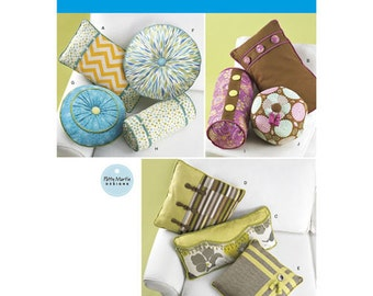 sewing pattern for decorative pillows neck roll pillows simplicity round pillows