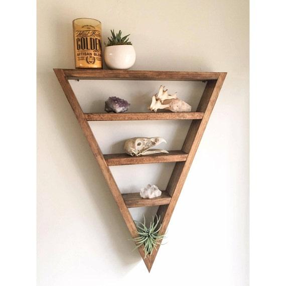 triangle shelf crystal shelf shadow box wood shelf. Black Bedroom Furniture Sets. Home Design Ideas